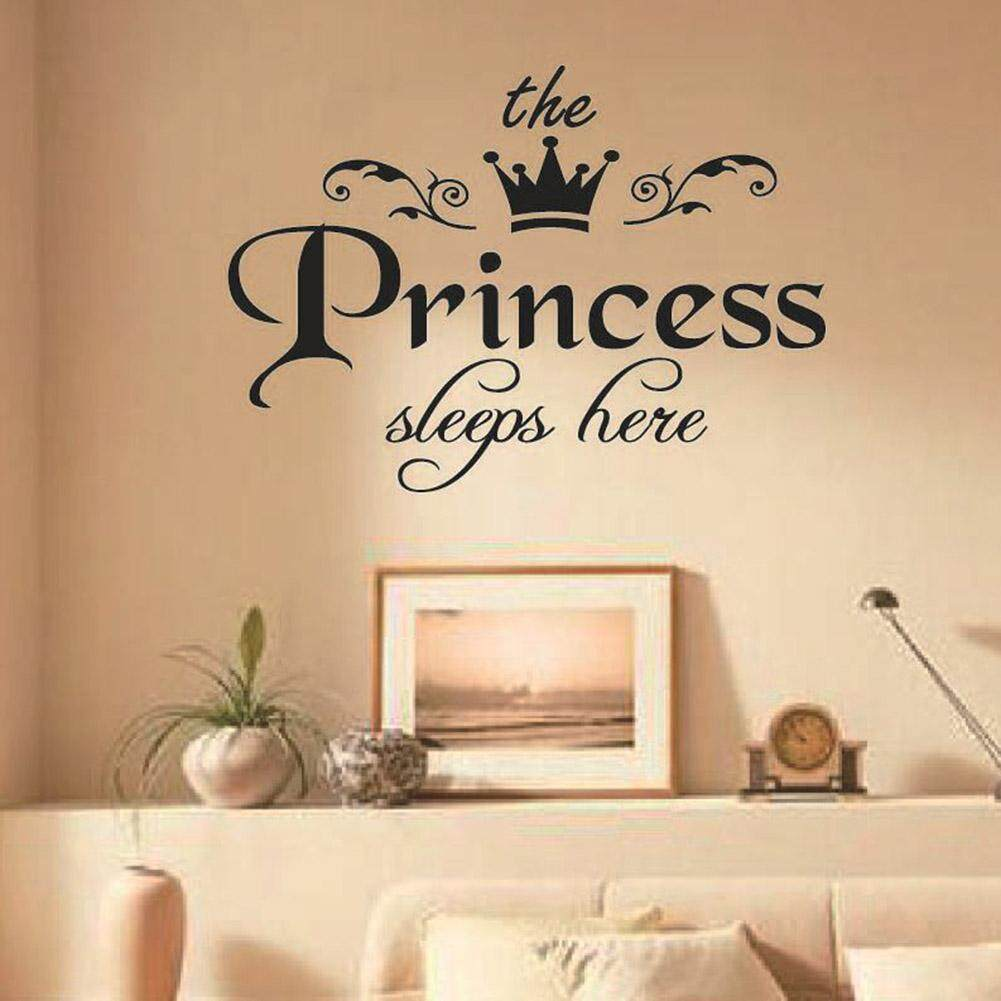 MeiYang Removable Princess Sleeps Wall Stickers Art Vinyl Decals Home Baby Girls Room Bedroom Dormitory Decor
