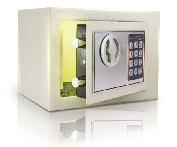 BuzzTech Big Size 3 IN 1 Personal / Home / Office /Hotel Digital SAFETY BOX / SAFE BOX GRADE A METAL Security Box