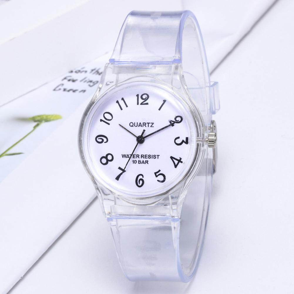 CANG Jelly Rubber Transparent Watch Casual Wrist Watches Clock Children Watch Malaysia