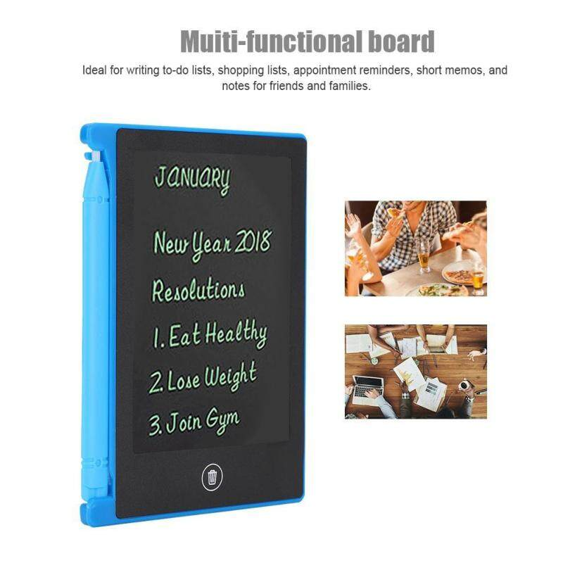 LCD 4.5inch Ultra-thin Handwriting Tablet Writing Drawing Notebook Board for Children Kids black