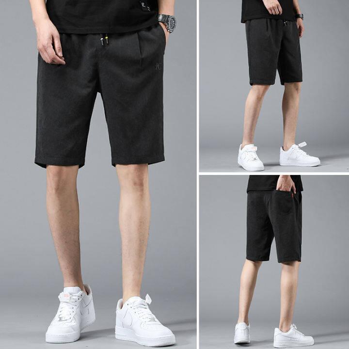 Gubo clothing new men's shorts pants casual loose black khaki short pants  trousers Summer chinos size 27-38   Lazada