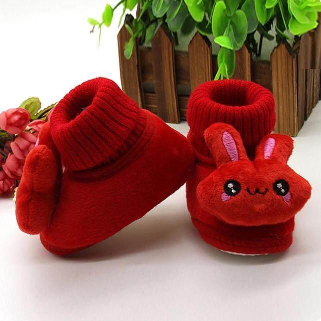 KIO Giày Thỏ Hoạt Hình Cho Em Bé Trẻ Sơ Sinh Trẻ Sơ Sinh Giày Giữ Ấm Đế Mềm giá rẻ