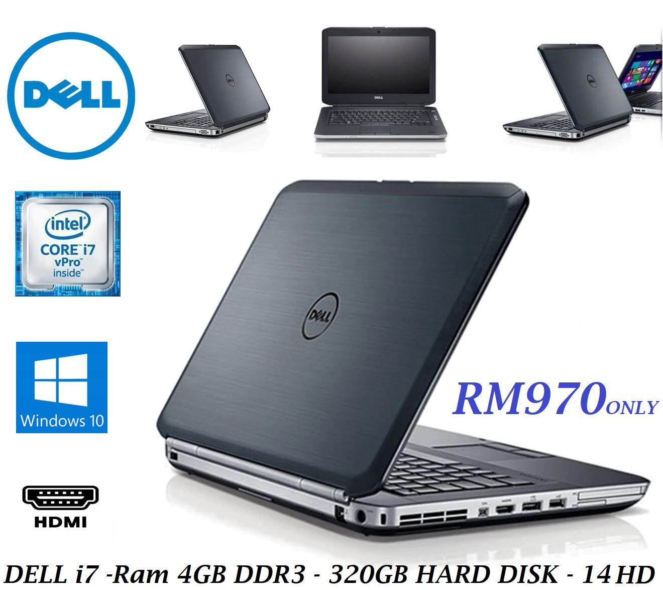 REFURBISHED DELL LATITUDE E5430 SUPERDUTY CORE i7 / 4GB RAM / 320GB HDD / 1 YEAR WARRANTY Malaysia
