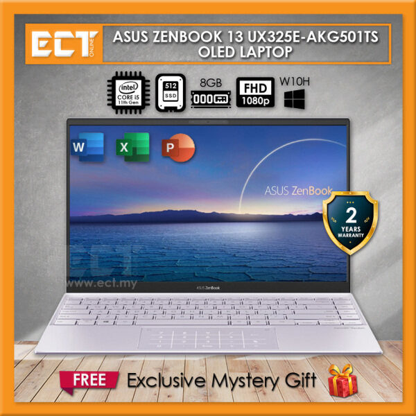 Asus ZenBook 13 UX325E-AKG501TS OLED Laptop (i5-1135G7 4.20GHz,8GB,512GB,13.3 FHD,W10) Malaysia