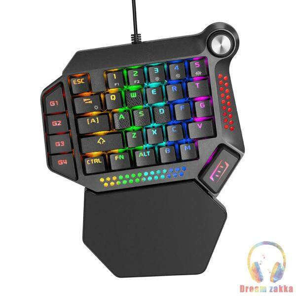 K60 One-Handed Mechanical Keyboard RGB Portable Gaming Keypad for PC Laptop Singapore