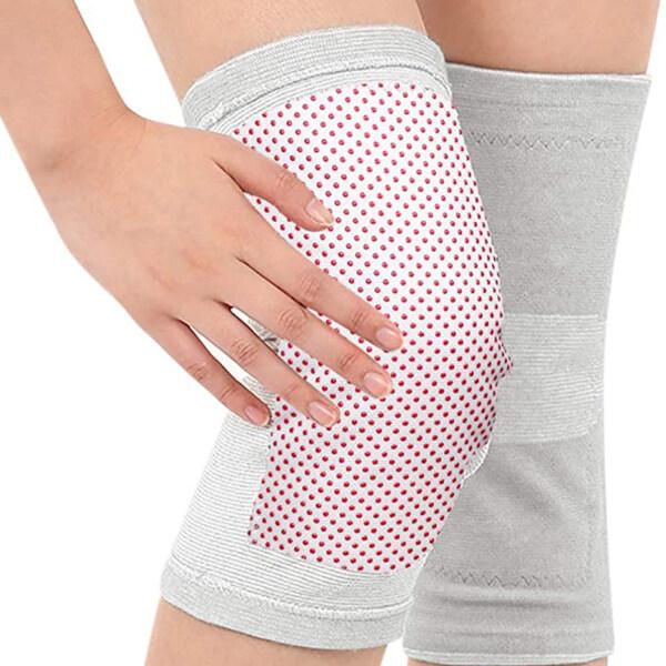 JIYUE 1 Pair Knee Heated Pads Support Brace Self-Heating Knee Pads Elderly Knee Protector