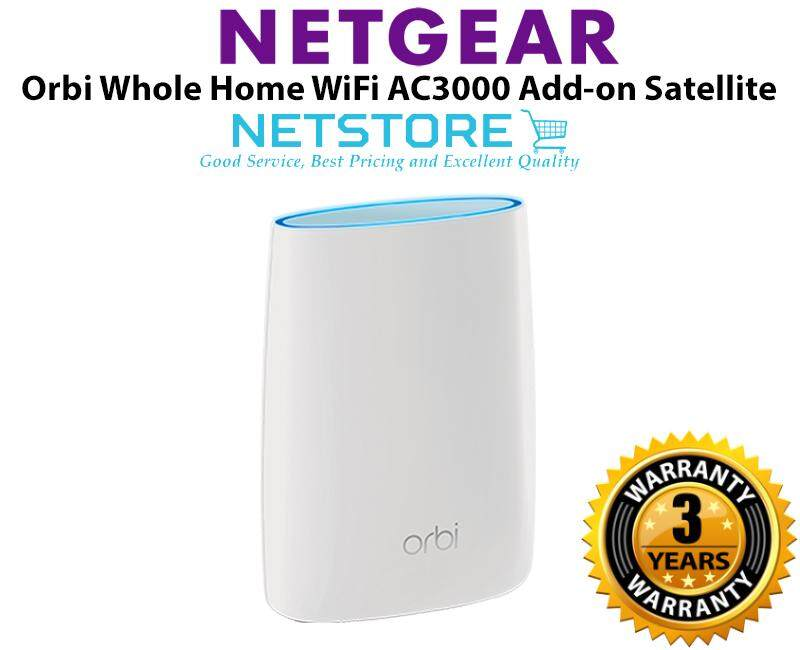 Netgear Orbi Ultra-Performance Whole Home WiFi System AC3000 Add-on  Satellite WiFi Router - RBS50 RBS50-100UKS
