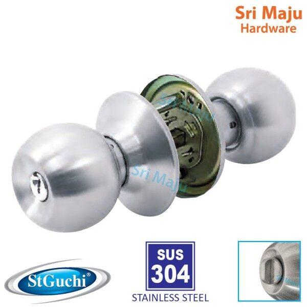 MAJU St Guchi SGTL 527 SN Tubular Cylindrical Cylinder Door Lock SS304 SUS304 Tombol Pintu Bilik Rumah Kualiti TL527