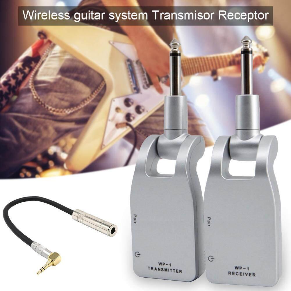 2.4GHZ Không Dây Đàn Guitar Hệ Thống Kỹ Thuật Số Thu Phát Transmisor Thụ Thể cho Đàn Guitar Điện Bass
