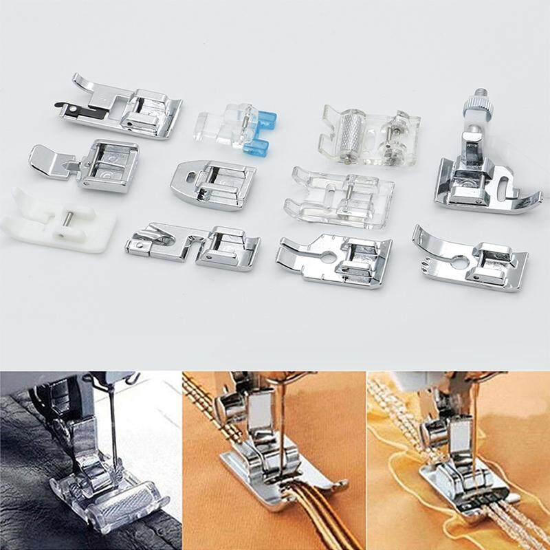 11 cái Đa Chức Năng thiết bị ép chân máy khâu Máy May Trong Nước Chân Bộ Phụ Kiện Hoa Trung Tâm