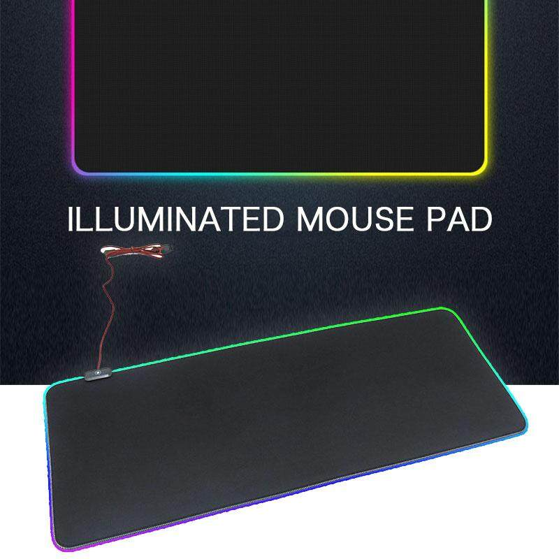 Extra Large RGB Mouse Pad Rubber Usb2.0 PVC 150mA Cushion Anti-Slip Computer Gaming Home Mice Mat Mouse Mat Office Laptop Rectangular Protection Pad Malaysia