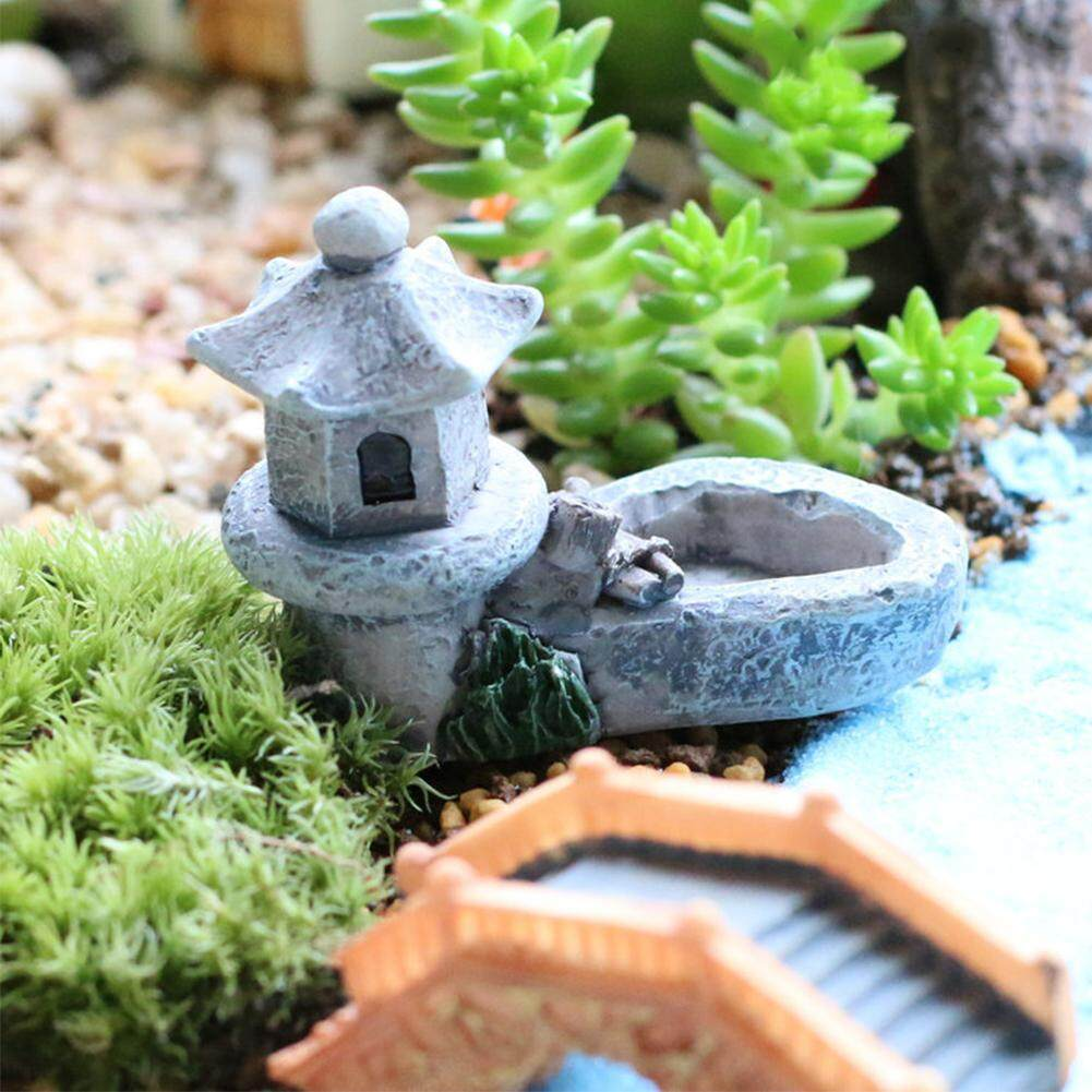 Landscape Handmade Mini Tower Pool DIY Craft Aquarium Resin Garden Ornaments