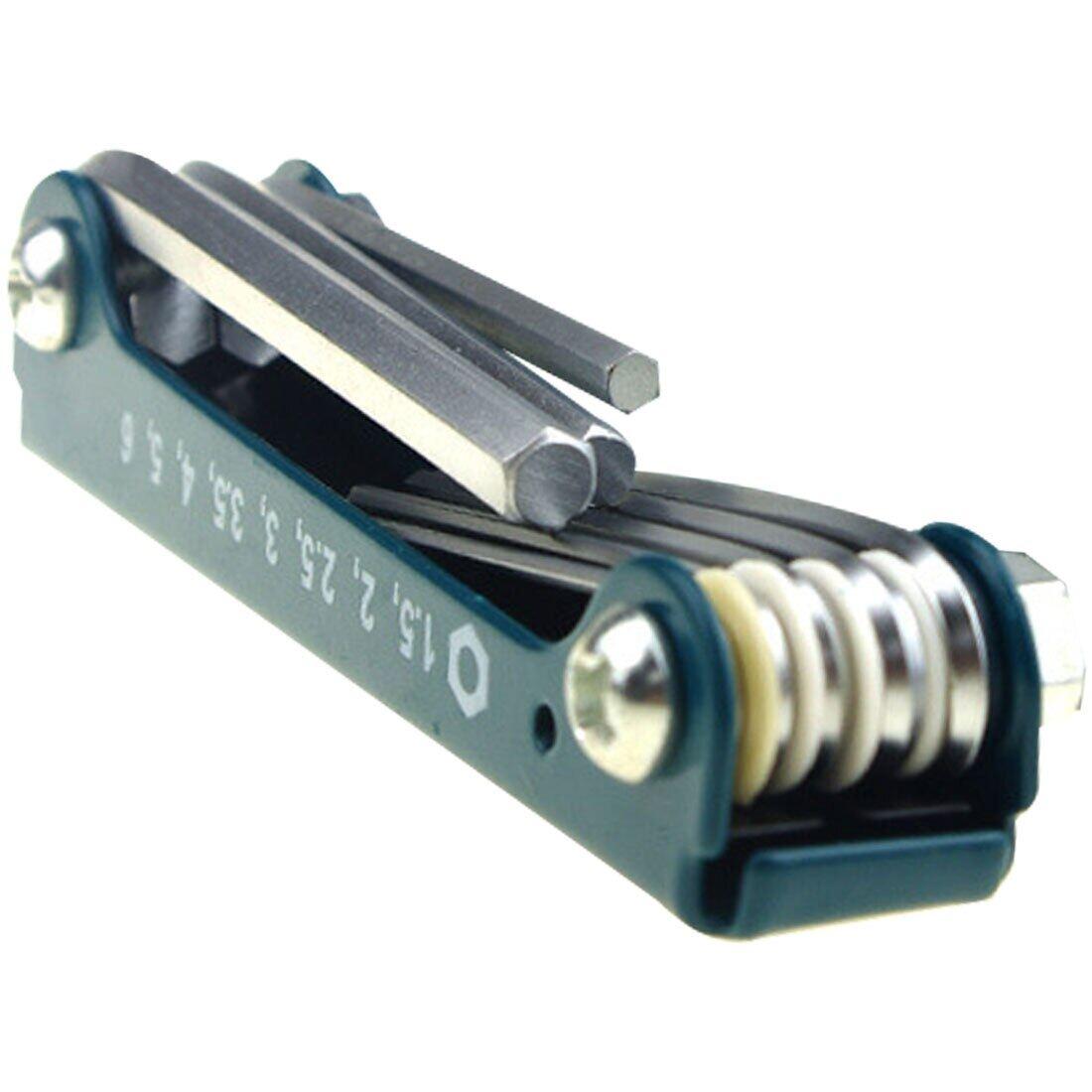 8pcs Foldable Key Hex Wrench Set Metric System Hexagon Spanner Screw Repair Tool