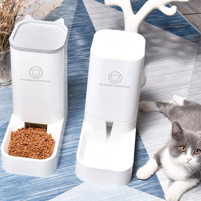Hộp Đựng Thức Ăn Cho Thú Cưng, Bình Đựng Thức Ăn Tự Động Cho Chó Mèo Dung Tích Lớn 3.8 L