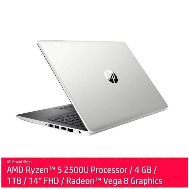 HP 14-cm0107AU  AMD Ryzen 5-2500U  4GB  1TB  14.0  AMD Share  W10 - Silver (5SB89PA) Malaysia