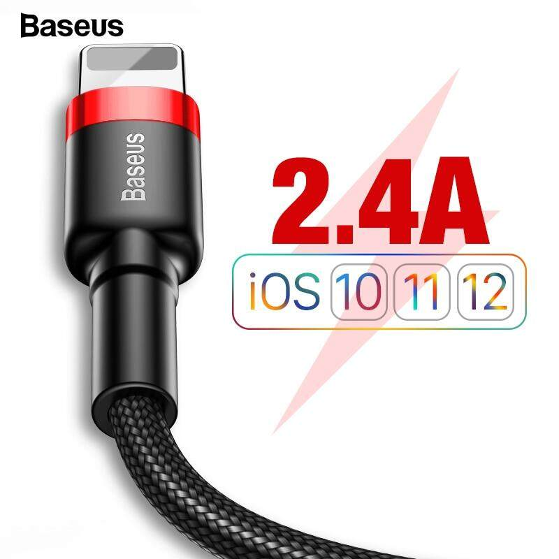 BASEUS Kabel Usb 1 M 1 Meter untuk iPhone X Max XR X 8 7 6 6 S PLUS 5 5 S SE Ipad Pro Mini Cepat Pengisian Charger Data Kabel Telepon Seluler Kabel