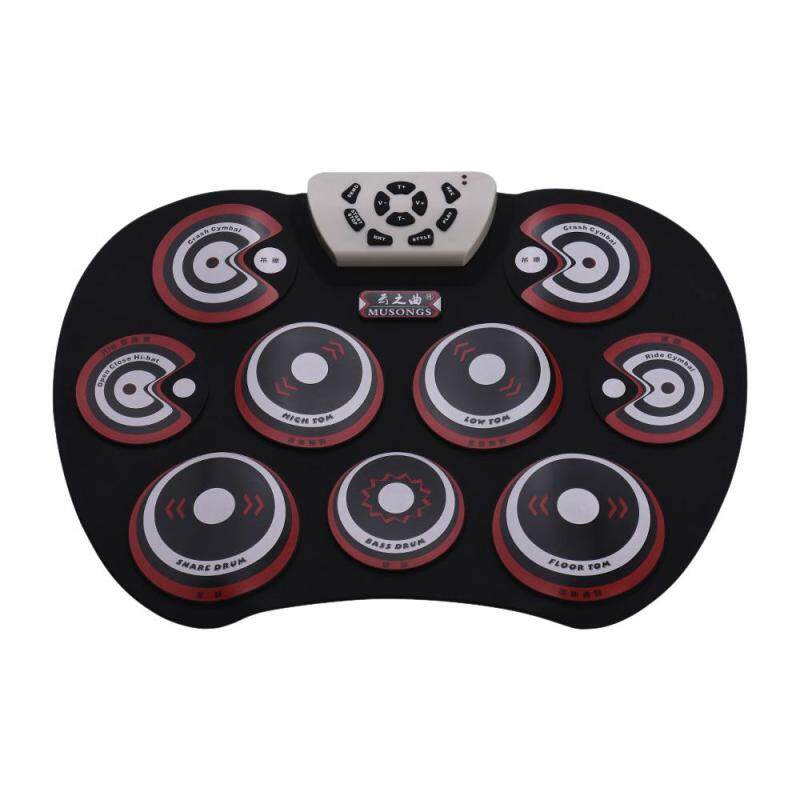 Electronic Drum Pad USB Cable Foldable Roll Up Digital Drum Set with Drumsticks Double   Foot Pedals Percussion Instrument Drumpad for Kids Beginners Professionals