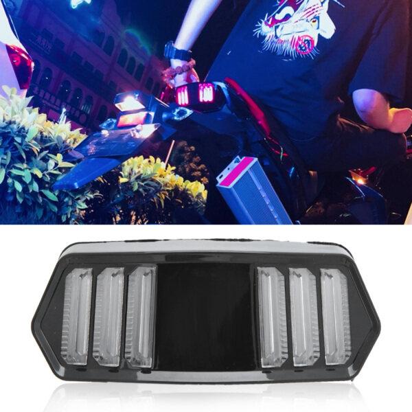 Luz Tradera, Concha Negra, Modificada De La Đèn LED Xe Máy Luz Trasera Integrada Señal De Giro Adecuada Para MSX125 CBR650F CTX700 CTX700N