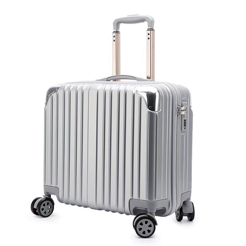 High quality 18inch thickening shatter-resistant wear luggage luggage mute caster luggage ABS+PC Mirror surface trolley case boarding luggage suitcase password box business boarding the chassis