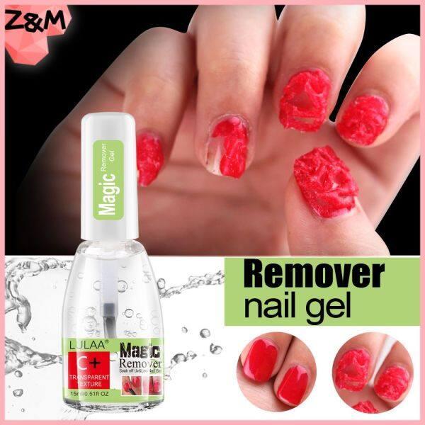 LULAA 15ML Nail Polish Burst Ma Thuật Gel Nail Polish Remover Ngâm Tắt Nail Cleaner Không Thấm Nước Mỹ Phẩm