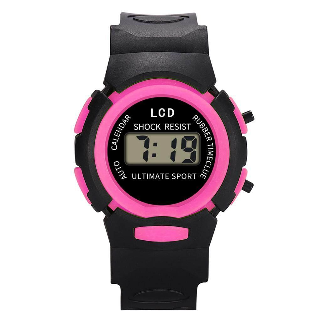 【Planiesty】 Children Girls Analog Digital Sport LED Electronic Waterproof Wrist Watch New Malaysia