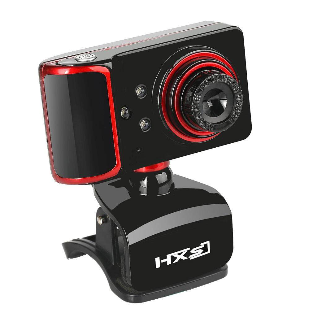 Sunnimix 16M Pixel Web Klip Kamera-360 Derajat Webcam USB HD 3LED W/Mic untuk Laptop