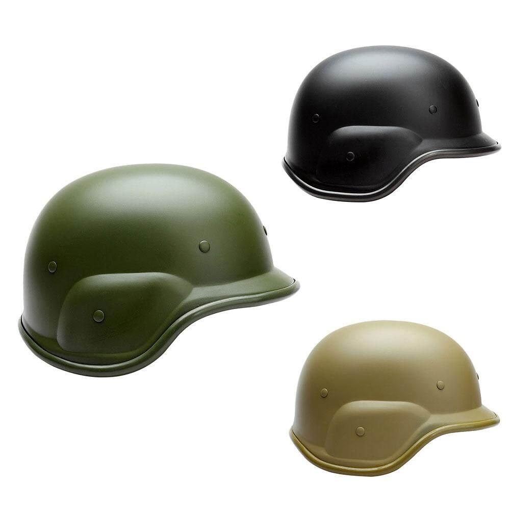 Plastik ABS Taktik Tentara Militer Anti Peluru Tempur Helm Motor Hitam
