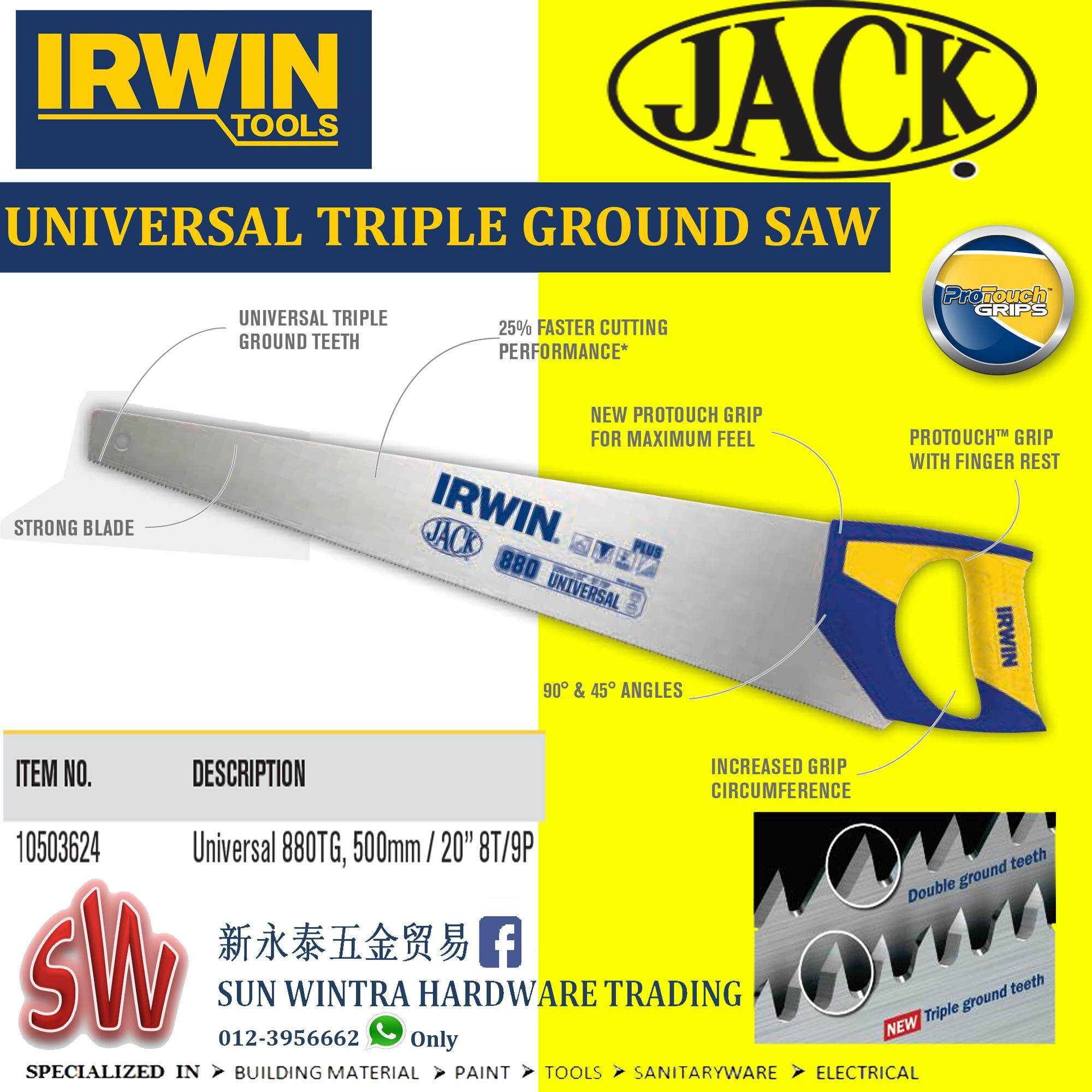 Irwin Plus880 20/500mm Universal Triple Ground Saw By Sun Wintra.
