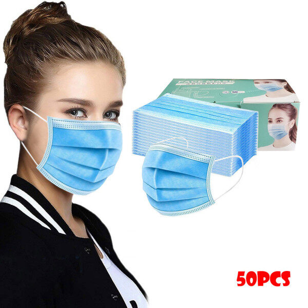 KoseKylin Air Purifying Face cover Cover Anti Dust 3  Layer Mouth Filter covers 50PC