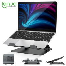 Lenuo Giá Đỡ Máy Tính Xách Tay Gấp Được Bằng Nhôm Giá Đỡ Máy Tính Xách Tay Thông Gió Điều Chỉnh Miễn Phí Nâng Đứng Làm Mát Máy Tính Công Thái Học Có Thể Điều Chỉnh Tương Thích Với MacBook Pro/Air V. V.