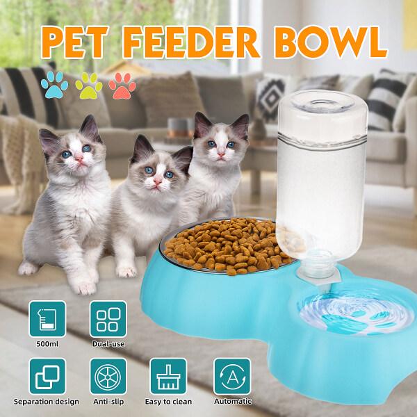 Bát Cho Mèo Dùng Hai Lần Tự Động, Bát Cho Chó Ăn Nước Đài Phun Nước Uống Cho Mèo Bình Đựng Thức Ăn Dung Tích Lớn