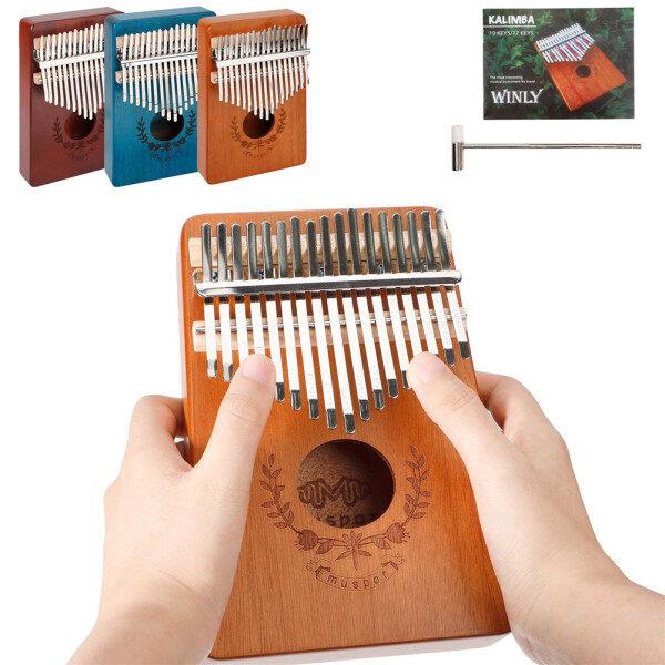 Đàn kalimba giá rẻ Kalimba gỗ Đàn kalimba full phụ kiện Đàn kalimba Đàn kalimba 17 phím đàn piano ngón tay gỗ gụ mbira Đàn Piano ngón tay phong cách vòng hoa với cuốn sách bài hát búa chỉnh