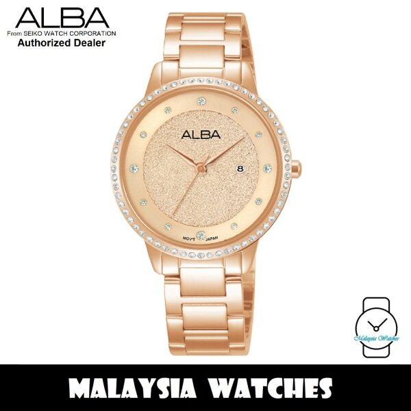 ALBA AH7W20X Quartz Analog Rose Gold-Tone Dial Swarovski Crystal Rose Gold-Tone Stainless Steel Ladies Watch AH7W20 AH7W20X1 (from SEIKO Watch Corporation) Malaysia