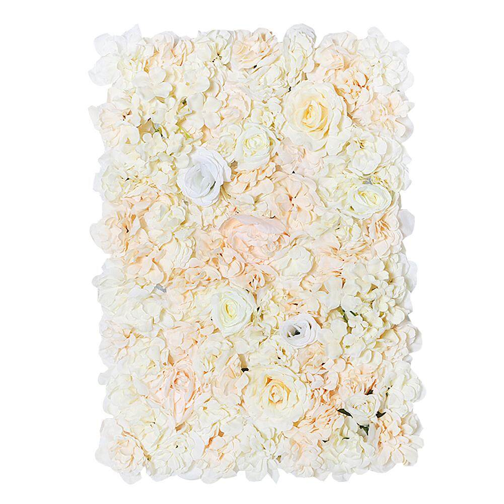 [Wondering]40 x 60cm Silk Rose Flower Wall Wedding Decor Backdrop Artificial Flower