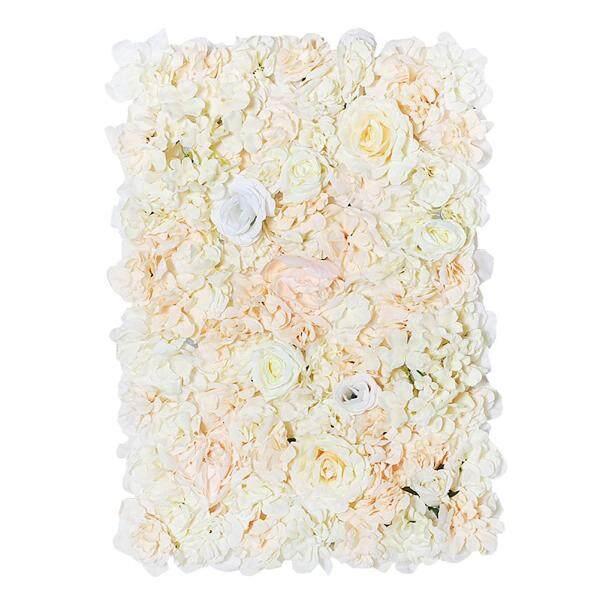 [Wondering]40 x 60cm Silk Rose Flower Wall Wedding Decor Backdrop Artificial Flower