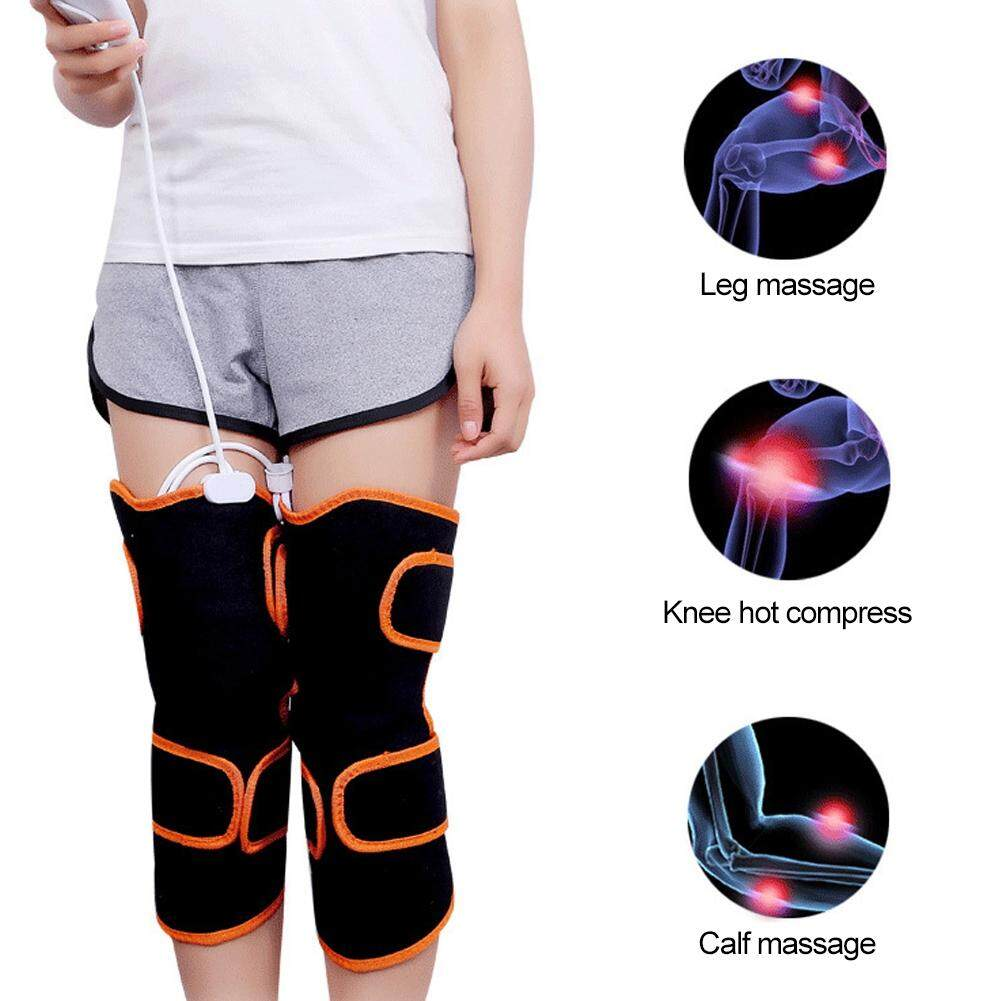 ทำความร้อนไฟฟ้าเข่าข้อเสื่อม Pad ที่นวดขา WARM การบำบัดด้วยความร้อน Massager UK 220V