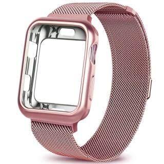 Tương Thích Với Dây Đeo Đồng Hồ Apple 40Mm 44Mm Có Vỏ, Vòng Lưới Inox Có Thể Điều Chỉnh Đóng Cửa Từ Tính Thay Thế Cho Dây Đeo IWatch, Tương Thích Với Apple Watch Series 4 thumbnail