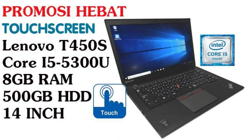 TouchscreenLENOVO T450S Core i5-5300U 8GB RAM 500GB HDD 14 INCH Malaysia