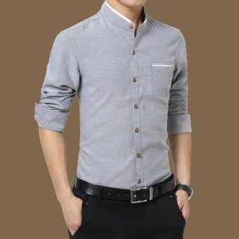 ผู้ชายเสื้อแขนยาวเข้ารูปพอดีเสื้อเชิ้ตแบบธุรกิจทางการ