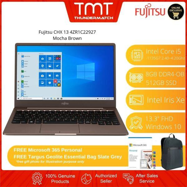 Fujitsu CH 13 4ZR1C22927 Brown Laptop | i5-1135G7 | 8GB-OB 512GB SSD | 13.3 FHD | W10 | 2 Years Warranty Malaysia