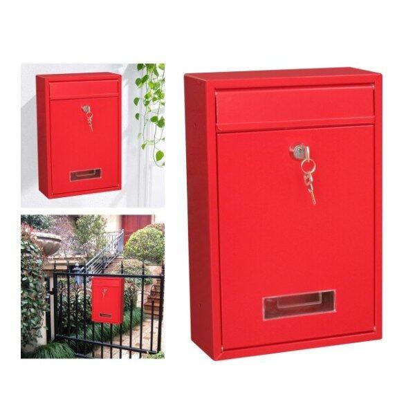 Mailbox Vertical Secure Rainproof Mail Box 21x8x32cm Home Office Drop Box