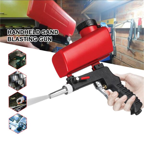 Portable Handheld Pneumatic Sand Blasting Gun Set Rust Blasting Device Gravity Polishing Derusting Oil Removal Machine