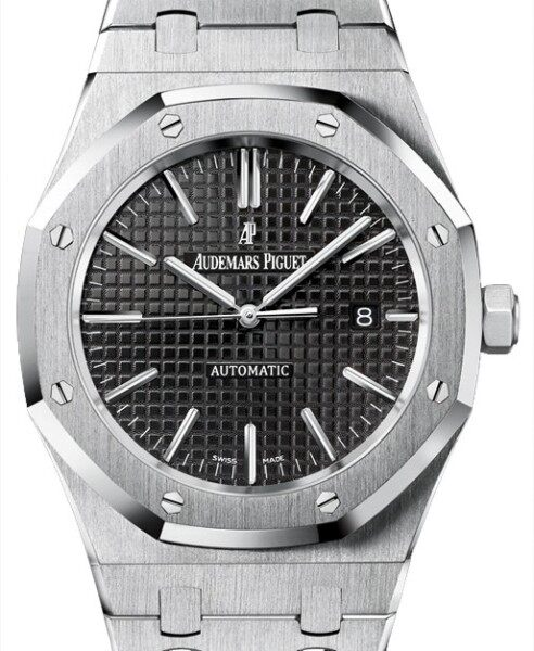 Audemărs Piguét 15400ST.OO.1220ST.01 Royal Oak 41mm Black Index Stainless Steel BRAND NEW Malaysia