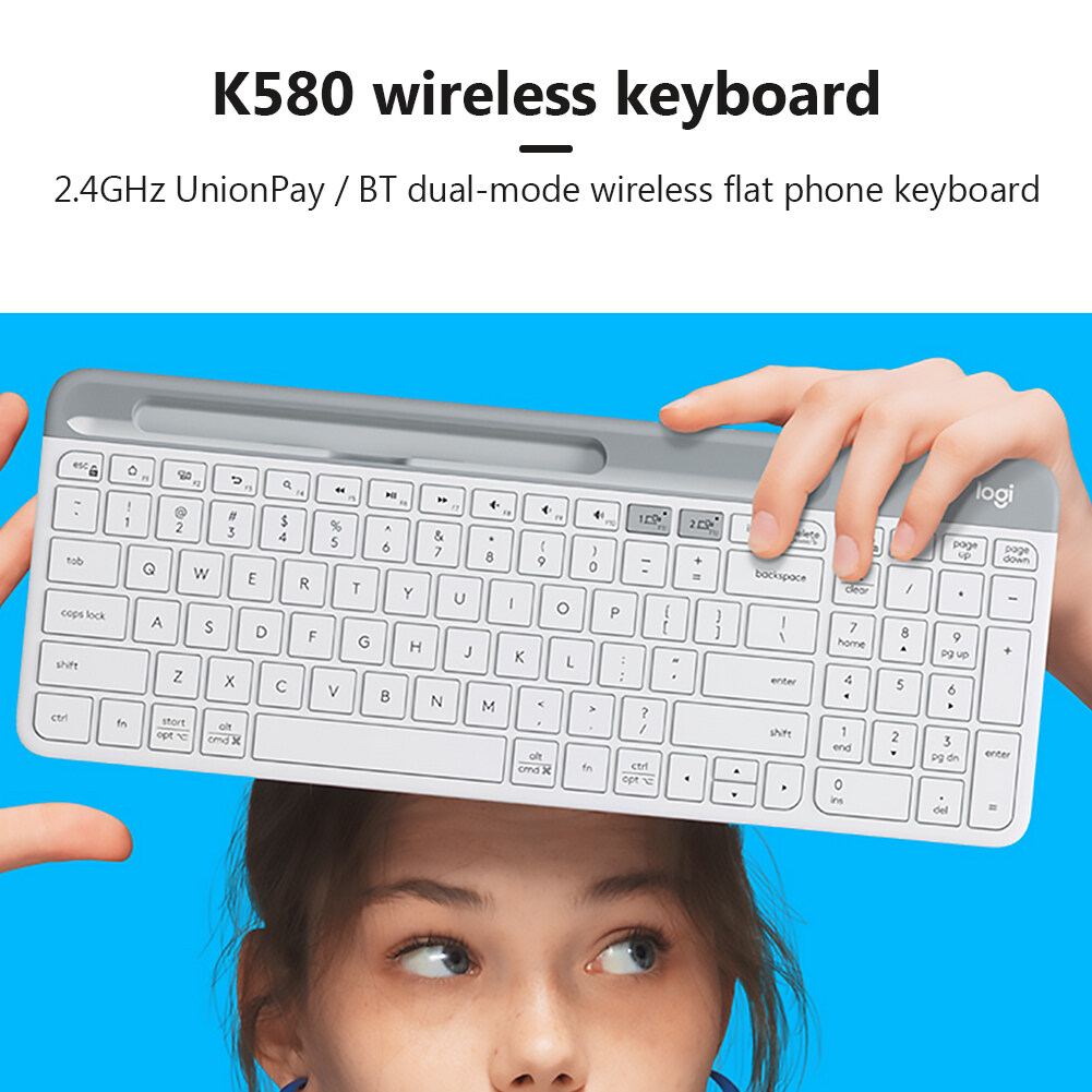 K580 2.4GHz Wireless Office Keyboard Unifying Bluetooth Dual Mode for PC Laptop with Durability Singapore