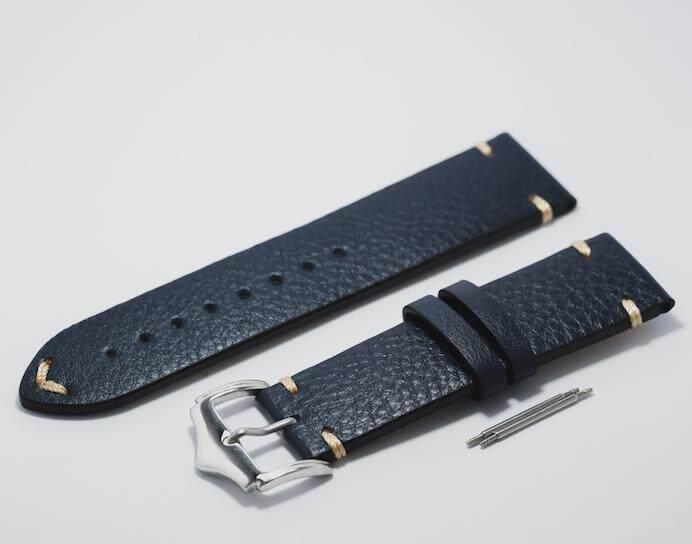 Lychee Blue Vintage Leather Strap - 22mm Malaysia