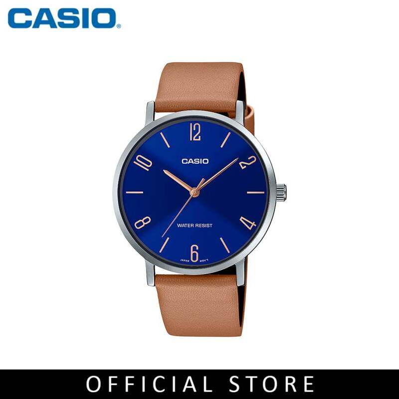 Casio General MTP-VT01L-2B2 Brown Leather Band Men Watch Malaysia
