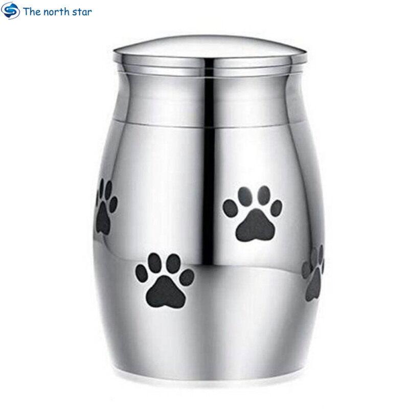 Bình Đựng Tro Cốt Thép Không Gỉ Với In Cây Cho Vật Nuôi Chó Mèo Vật Đựng Tro Cốt Thép Thu Nhỏ Bình Đựng Tro Cốt