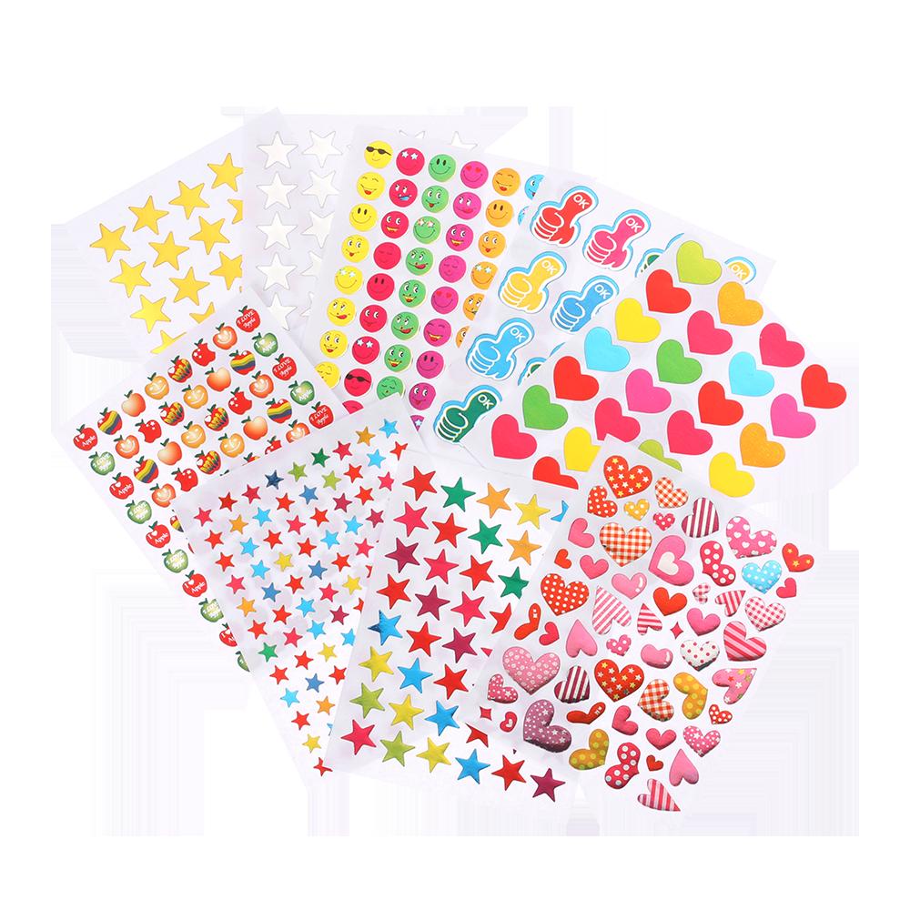 Star Award Photo Album Decor Gilding Reward Stickers Stationery Sticker