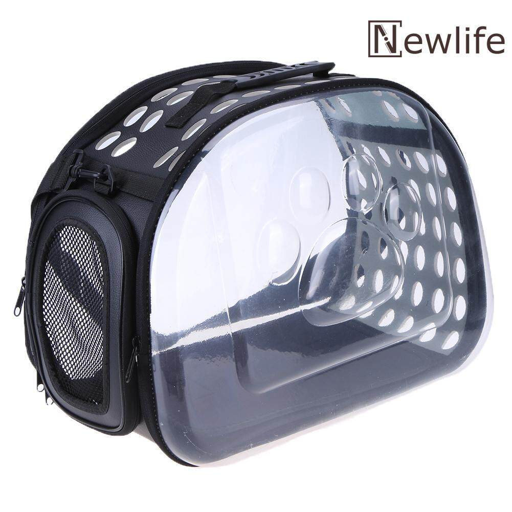 Foldable Soft Pet Carrier Puppy Dog Cat Outdoor Travel Bag Clear Dog Bag(black) By Newlifestyle.