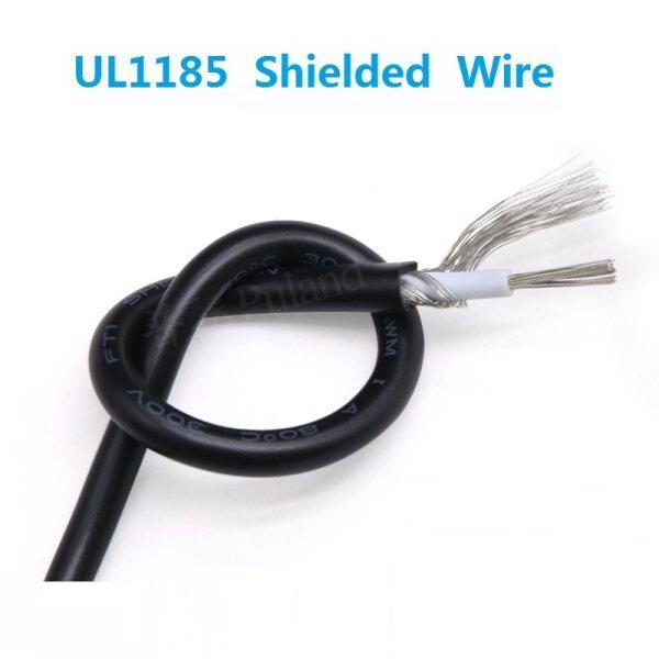 5Meter-16AWG UL1185 Dây được bảo vệ Cáp tín hiệu Kênh âm thanh Tai nghe điện tử lõi đơn Dây đồng che chắn